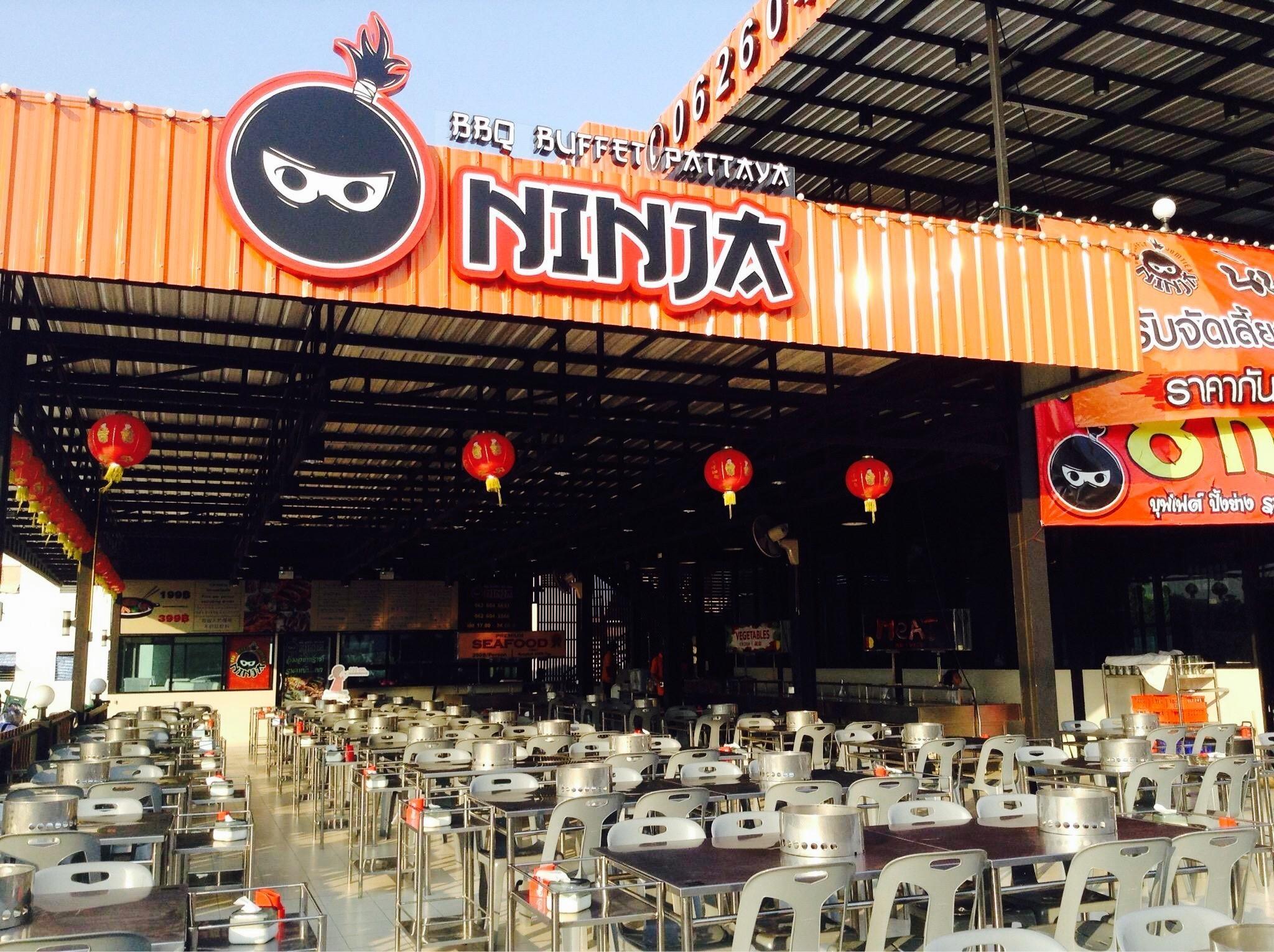 Буфет ниндзя (Ninja bbq buffet) на Джомтьене
