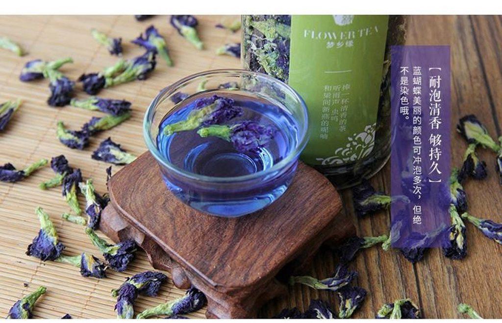 Синий чай и красив и полезен
