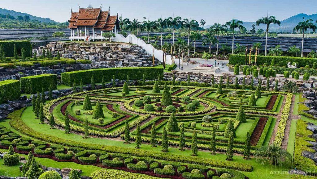 Красочный и интересный ботанический сад Нонг Нуч в Паттайи