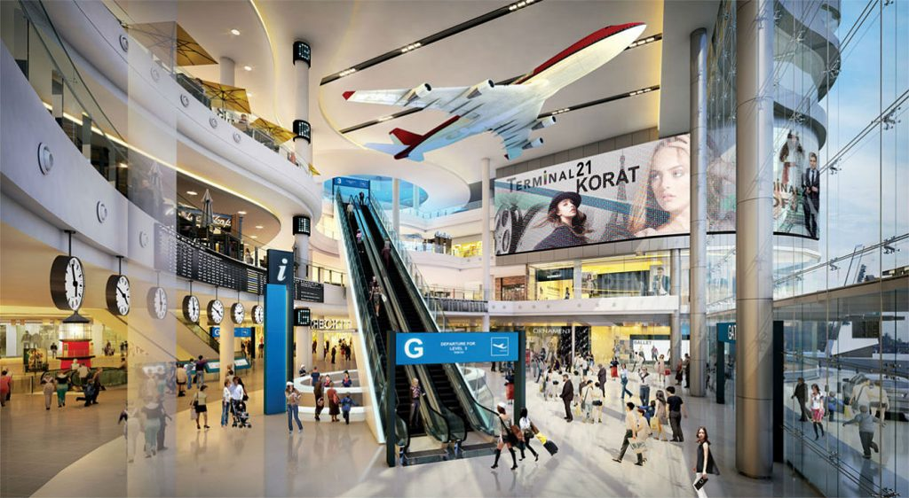 """В торговом центре """"Терминал 21"""" работают эскалаторы"""