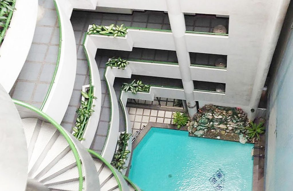 Отель Diamond Beach Hotel, вид с верхнего этажа