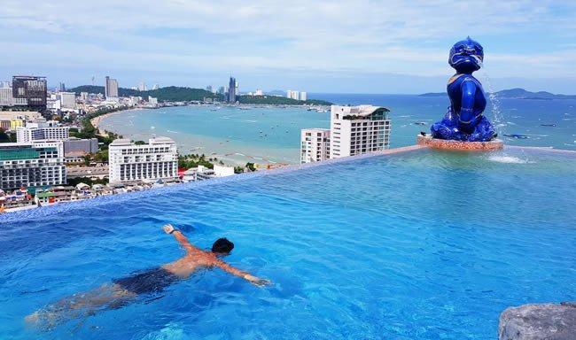 Отели и рестораны Паттайи с бассейном на крыше